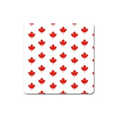 Maple Leaf Canada Emblem Country Square Magnet by Celenk