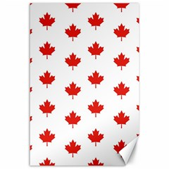 Maple Leaf Canada Emblem Country Canvas 24  X 36  by Celenk