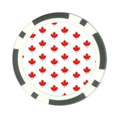 Maple Leaf Canada Emblem Country Poker Chip Card Guard (10 Pack) by Celenk