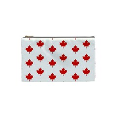 Maple Leaf Canada Emblem Country Cosmetic Bag (small)  by Celenk