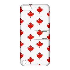Maple Leaf Canada Emblem Country Apple Ipod Touch 5 Hardshell Case With Stand by Celenk