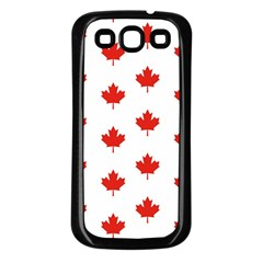 Maple Leaf Canada Emblem Country Samsung Galaxy S3 Back Case (black) by Celenk