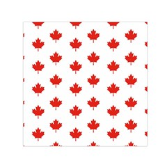 Maple Leaf Canada Emblem Country Small Satin Scarf (square) by Celenk