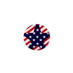 Patriotic Usa Stars Stripes Red 1  Mini Buttons
