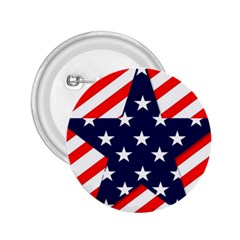 Patriotic Usa Stars Stripes Red 2.25  Buttons