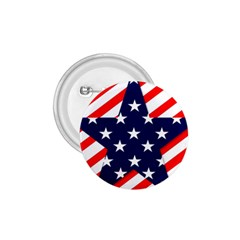 Patriotic Usa Stars Stripes Red 1.75  Buttons