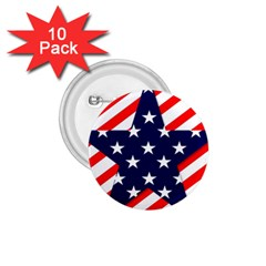 Patriotic Usa Stars Stripes Red 1.75  Buttons (10 pack)