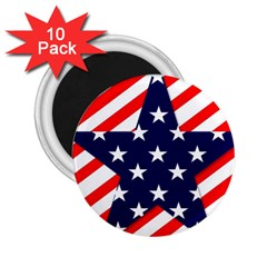 Patriotic Usa Stars Stripes Red 2.25  Magnets (10 pack)