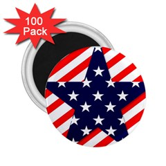 Patriotic Usa Stars Stripes Red 2 25  Magnets (100 Pack)