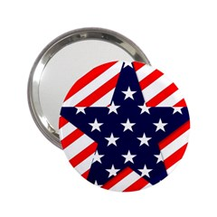 Patriotic Usa Stars Stripes Red 2 25  Handbag Mirrors by Celenk