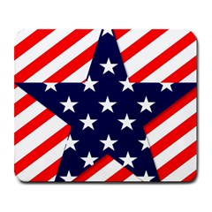 Patriotic Usa Stars Stripes Red Large Mousepads