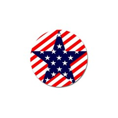 Patriotic Usa Stars Stripes Red Golf Ball Marker (4 pack)