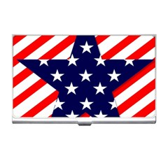 Patriotic Usa Stars Stripes Red Business Card Holders