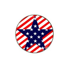 Patriotic Usa Stars Stripes Red Hat Clip Ball Marker (4 pack)