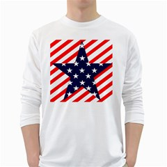 Patriotic Usa Stars Stripes Red White Long Sleeve T-Shirts