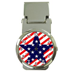 Patriotic Usa Stars Stripes Red Money Clip Watches