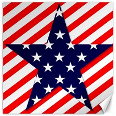 Patriotic Usa Stars Stripes Red Canvas 12  X 12   by Celenk