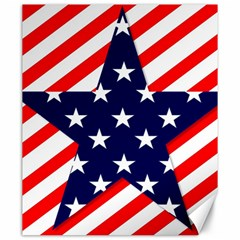 Patriotic Usa Stars Stripes Red Canvas 20  X 24   by Celenk