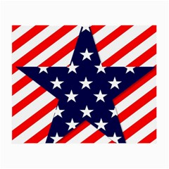Patriotic Usa Stars Stripes Red Small Glasses Cloth (2 Side)