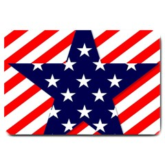 Patriotic Usa Stars Stripes Red Large Doormat