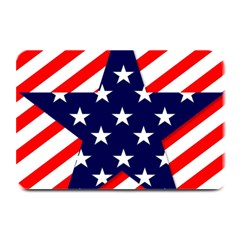 Patriotic Usa Stars Stripes Red Plate Mats