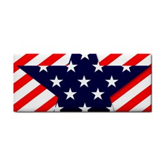 Patriotic Usa Stars Stripes Red Cosmetic Storage Cases