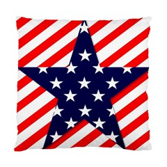Patriotic Usa Stars Stripes Red Standard Cushion Case (One Side)