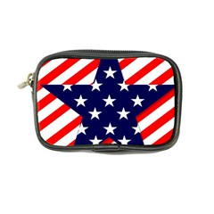Patriotic Usa Stars Stripes Red Coin Purse by Celenk