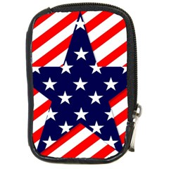 Patriotic Usa Stars Stripes Red Compact Camera Cases