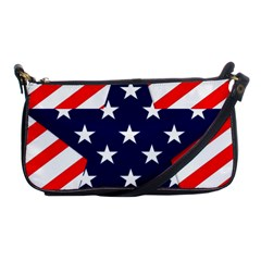 Patriotic Usa Stars Stripes Red Shoulder Clutch Bags