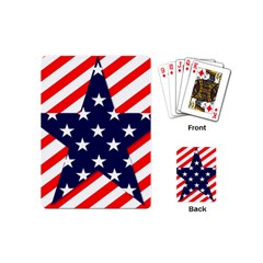 Patriotic Usa Stars Stripes Red Playing Cards (Mini)