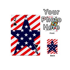 Patriotic Usa Stars Stripes Red Playing Cards 54 (Mini)