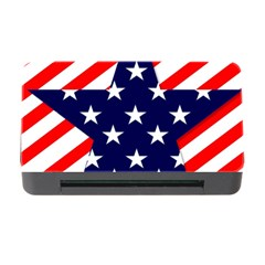 Patriotic Usa Stars Stripes Red Memory Card Reader with CF