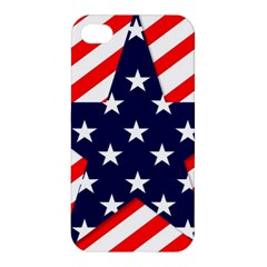 Patriotic Usa Stars Stripes Red Apple Iphone 4/4s Hardshell Case by Celenk