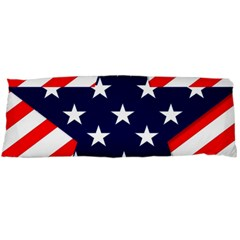 Patriotic Usa Stars Stripes Red Body Pillow Case Dakimakura (two Sides) by Celenk