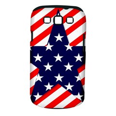 Patriotic Usa Stars Stripes Red Samsung Galaxy S III Classic Hardshell Case (PC+Silicone)