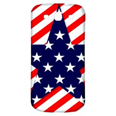Patriotic Usa Stars Stripes Red Samsung Galaxy S3 S III Classic Hardshell Back Case