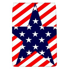 Patriotic Usa Stars Stripes Red Flap Covers (L)