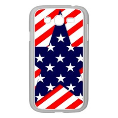 Patriotic Usa Stars Stripes Red Samsung Galaxy Grand DUOS I9082 Case (White)