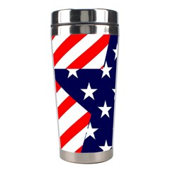 Patriotic Usa Stars Stripes Red Stainless Steel Travel Tumblers