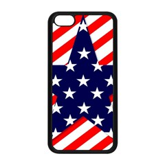 Patriotic Usa Stars Stripes Red Apple iPhone 5C Seamless Case (Black)