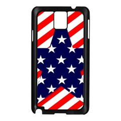 Patriotic Usa Stars Stripes Red Samsung Galaxy Note 3 N9005 Case (Black)