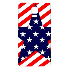 Patriotic Usa Stars Stripes Red Galaxy Note 4 Back Case