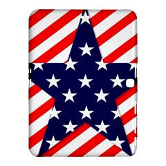Patriotic Usa Stars Stripes Red Samsung Galaxy Tab 4 (10 1 ) Hardshell Case  by Celenk