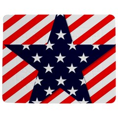 Patriotic Usa Stars Stripes Red Jigsaw Puzzle Photo Stand (Rectangular)