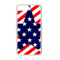 Patriotic Usa Stars Stripes Red Apple iPhone 7 Plus Seamless Case (White)