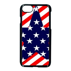 Patriotic Usa Stars Stripes Red Apple iPhone 7 Seamless Case (Black)