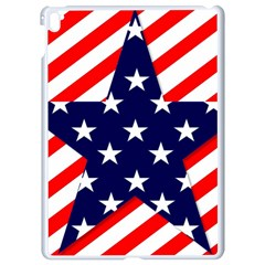 Patriotic Usa Stars Stripes Red Apple iPad Pro 9.7   White Seamless Case