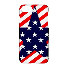 Patriotic Usa Stars Stripes Red Apple iPhone 8 Hardshell Case