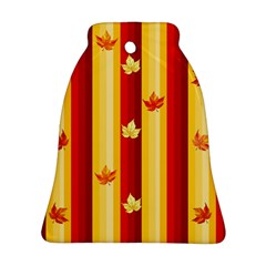 Autumn Fall Leaves Vertical Bell Ornament (two Sides) by Celenk